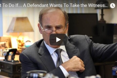 Consequences of Defendants Taking Witness Stand explained by Mastro, Barnes & Stazzone P.C.