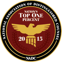 Nation's Top One Percent Award by NADC