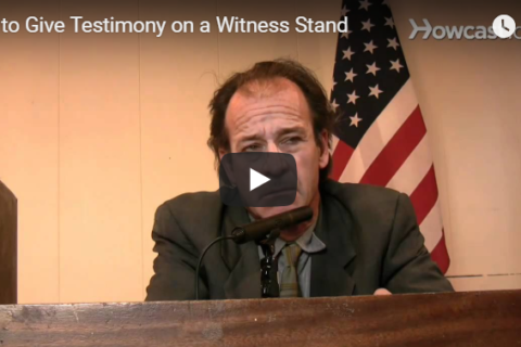 Mastro, Barnes & Stazzone P.C. helps Prepare to Give Witness Testimony