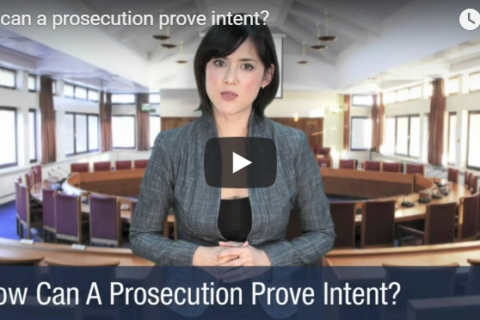 Video on How the Prosecution Can Prove Intent by Mastro, Barnes & Stazzone P.C.