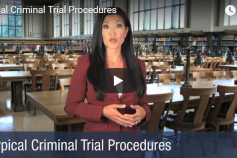 Video Explaining What Happens During a Criminal Trial